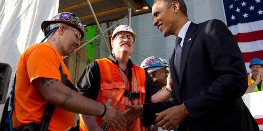 Obama würdigt Konstrukteure und technologische Entstehung
