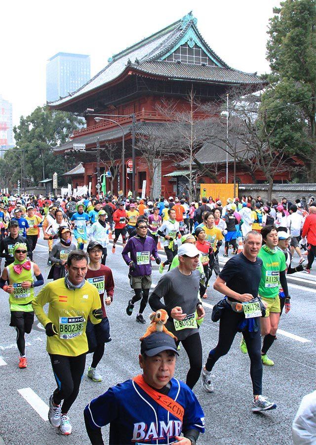 Teilnehmer beim Tokio-Marathon