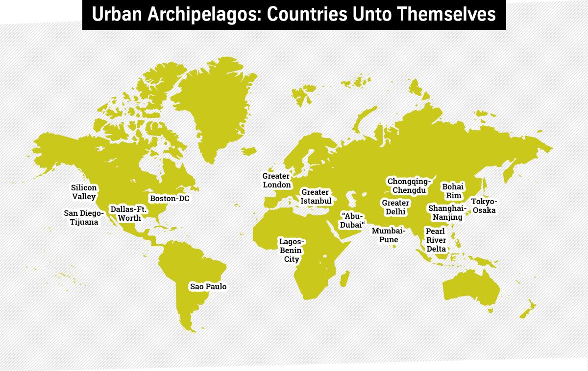 Neue globale Machtgebilde: Urbane Archipele