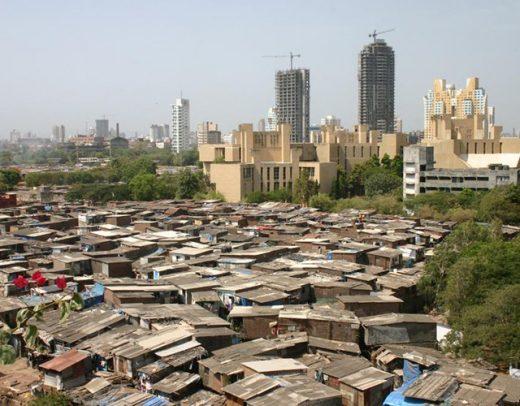 Slums und Luxus in Mumbai