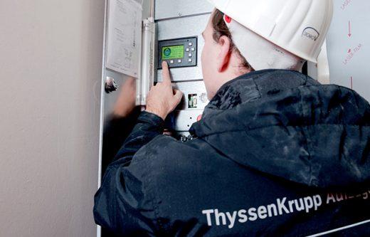 Prüfung der Aufzug-Technologie