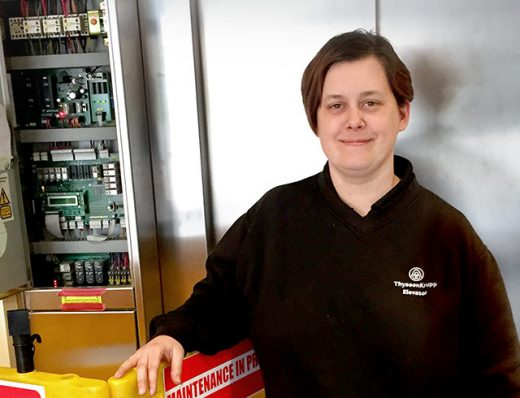 Kirsty Green, technicienne de maintenance basée à Manchester