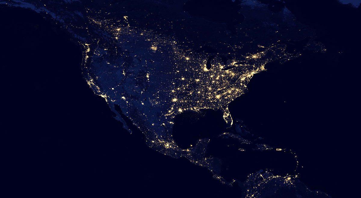 USA aus dem Weltraum