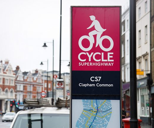 Der Cycle Superhighway in London