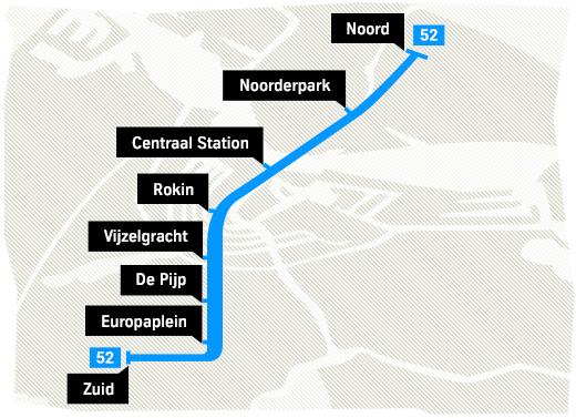 Die Stationen der U-Bahn-Linie