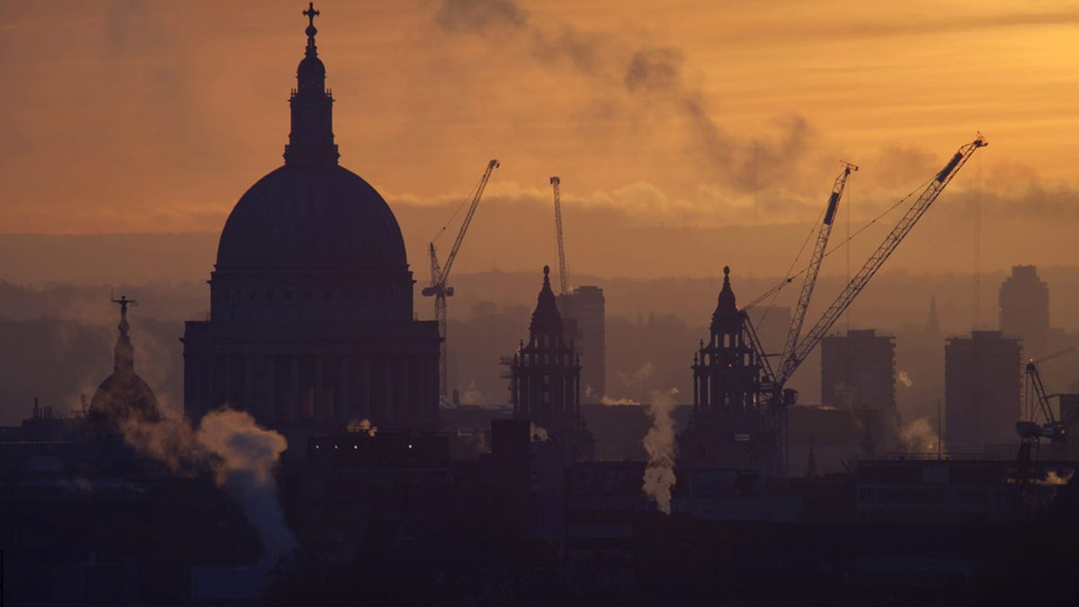 St Paul's Cathedral serenely faces the future.