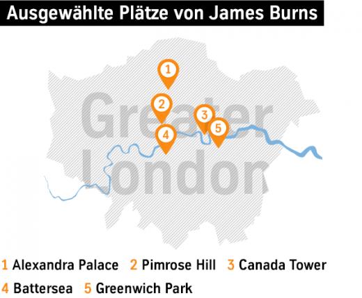 Ausgewählte Plätze von James Burns