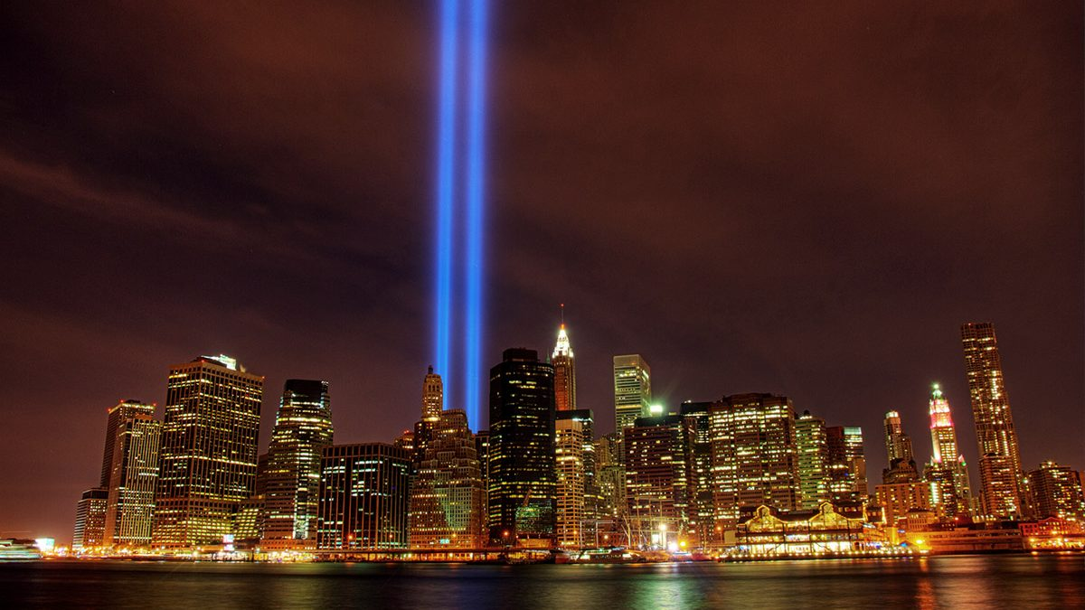 9/11 Memorial lighting of New York
