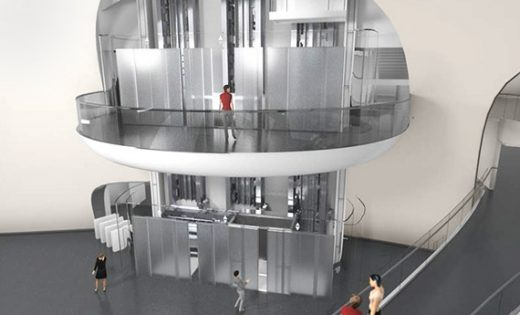 A potential foyer design for future MULTI elevators