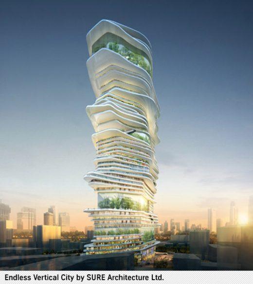Endless Vertical City von Sure Architects Ltd.