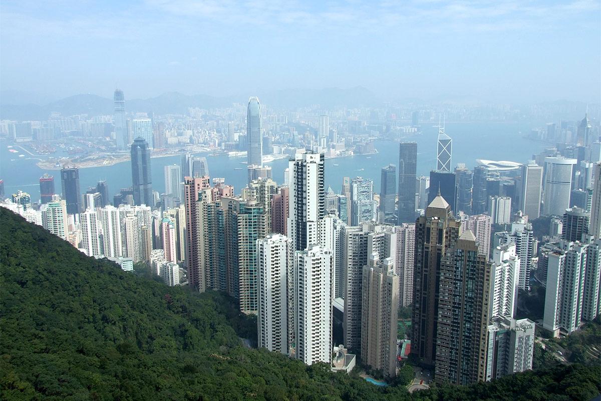 Die Skyline von Hong Kong