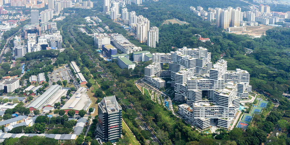 The Interlace resembles a village on a hillside