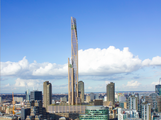 La « Oakwood Tower », haute de 80 étages, sera le premier plyscraper de Londres