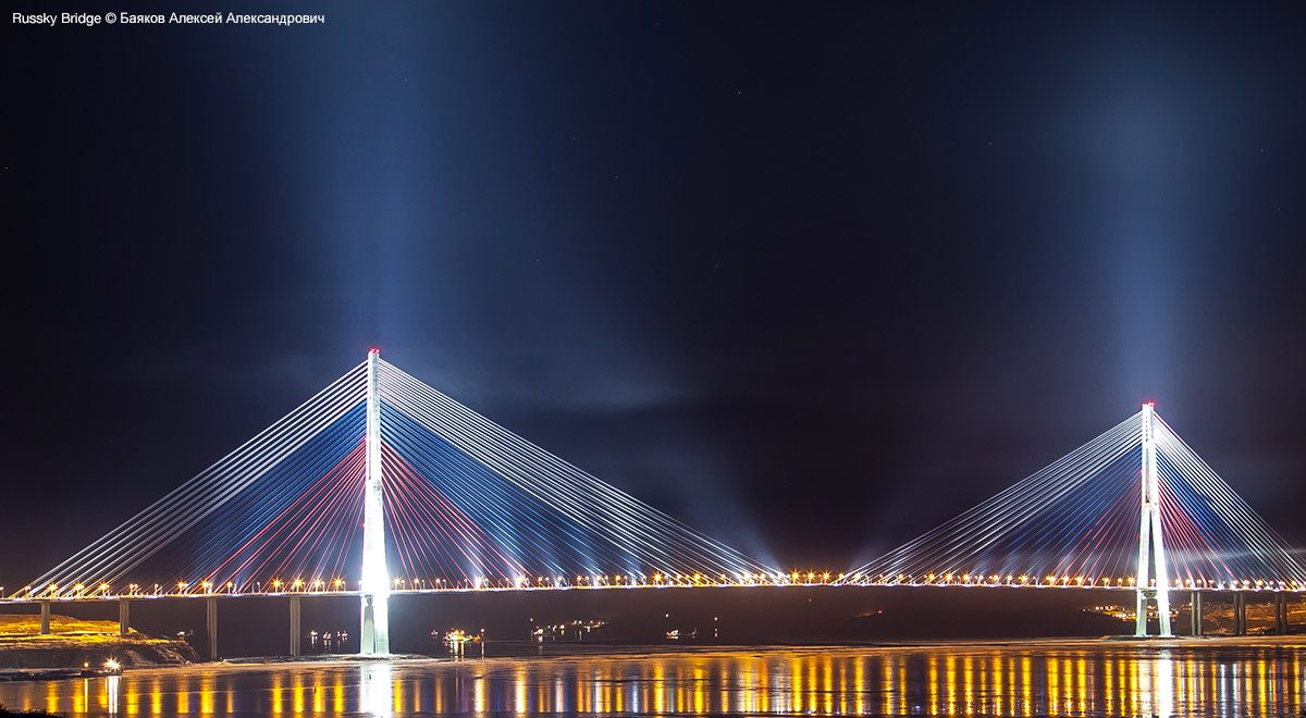 Russky Bridge – second tallest in the world.