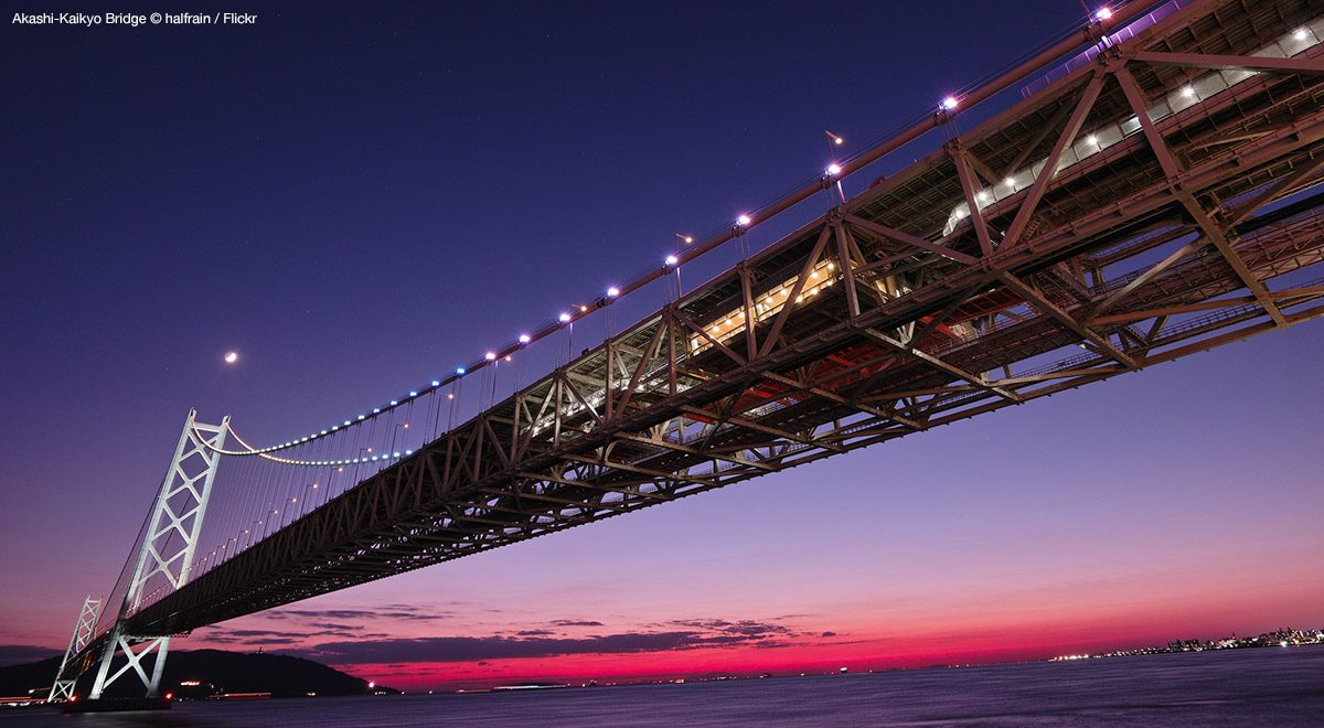 Akashi-Kaikyo Bridge – cost an estimated $3.6 billion.