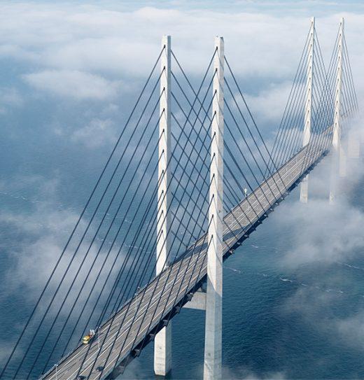 A ponte Øresund fomenta crescimento econômico e cooperação.