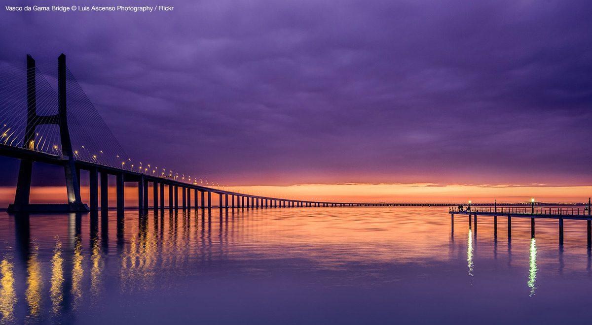 Vasco da Gama Bridge - the longest bridge in Europe.