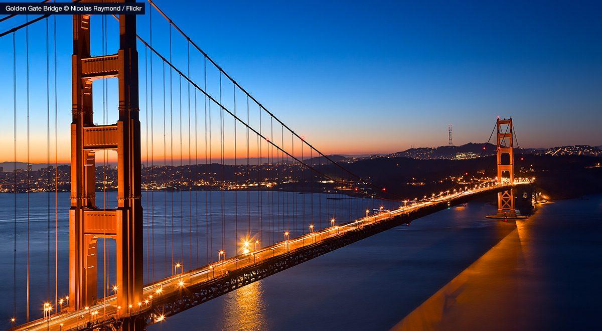 Golden Gate Bridge – an icon of San Francisco.