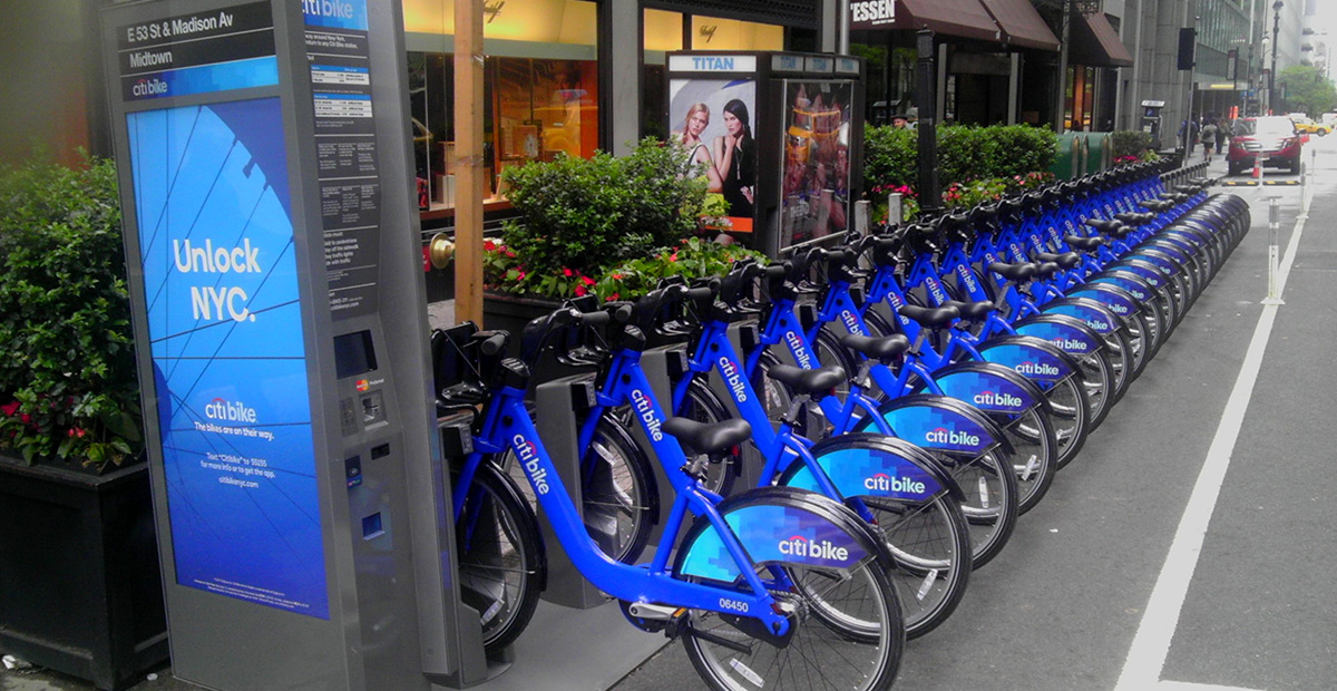 Share – and care for the environment. Citibikes in NYC