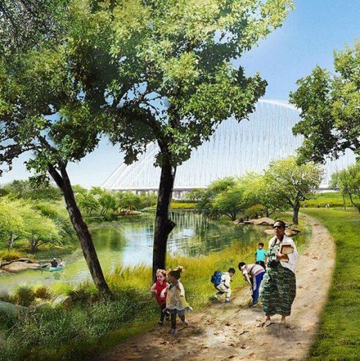 Unten am Fluss– ein Naherholungsgebiet für die Bewohner von Dallas