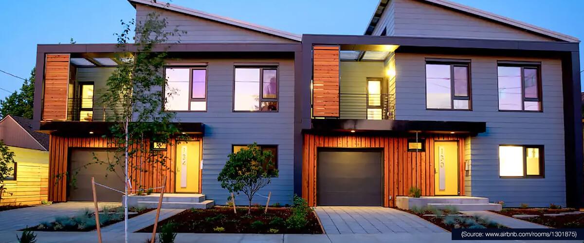 Übernachten Sie in diesem Bed&Breakfast: ein Netto-Null-Passivhaus in Portland