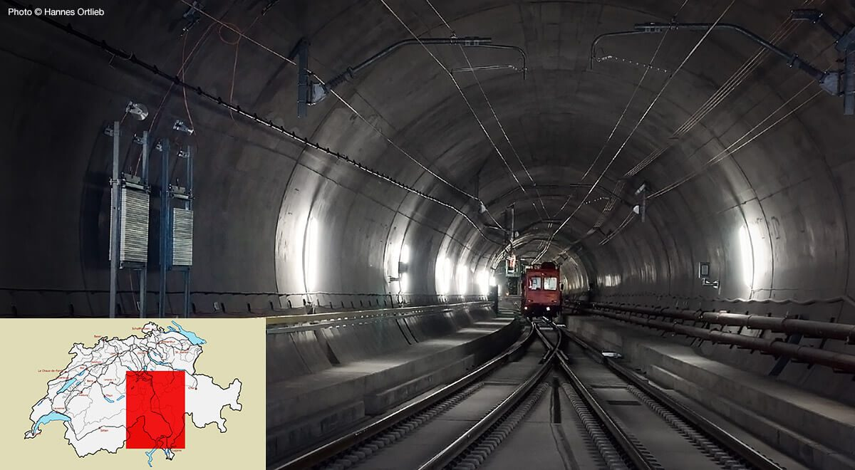 The Gotthard Base Tunnel links Zurich and Milan.