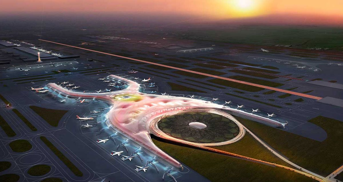 Dubai's new airport is built to handle 160 million people per year.