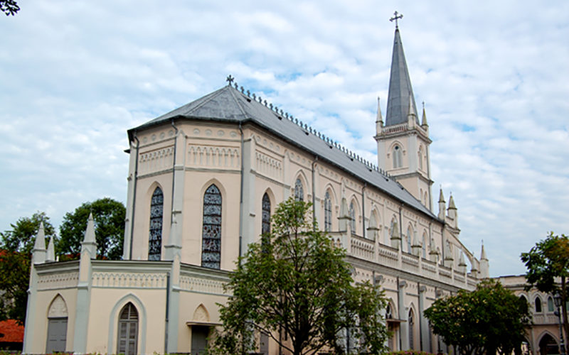 CHIJMES Hall fue antiguamente la capilla del convento.