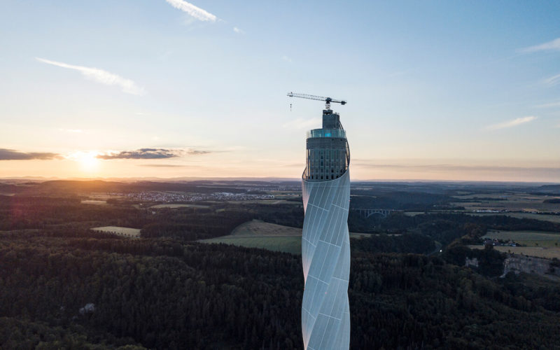 Test Tower Rottweil Sunset