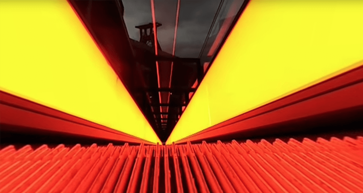 The escalator of the Zeche Zollverein