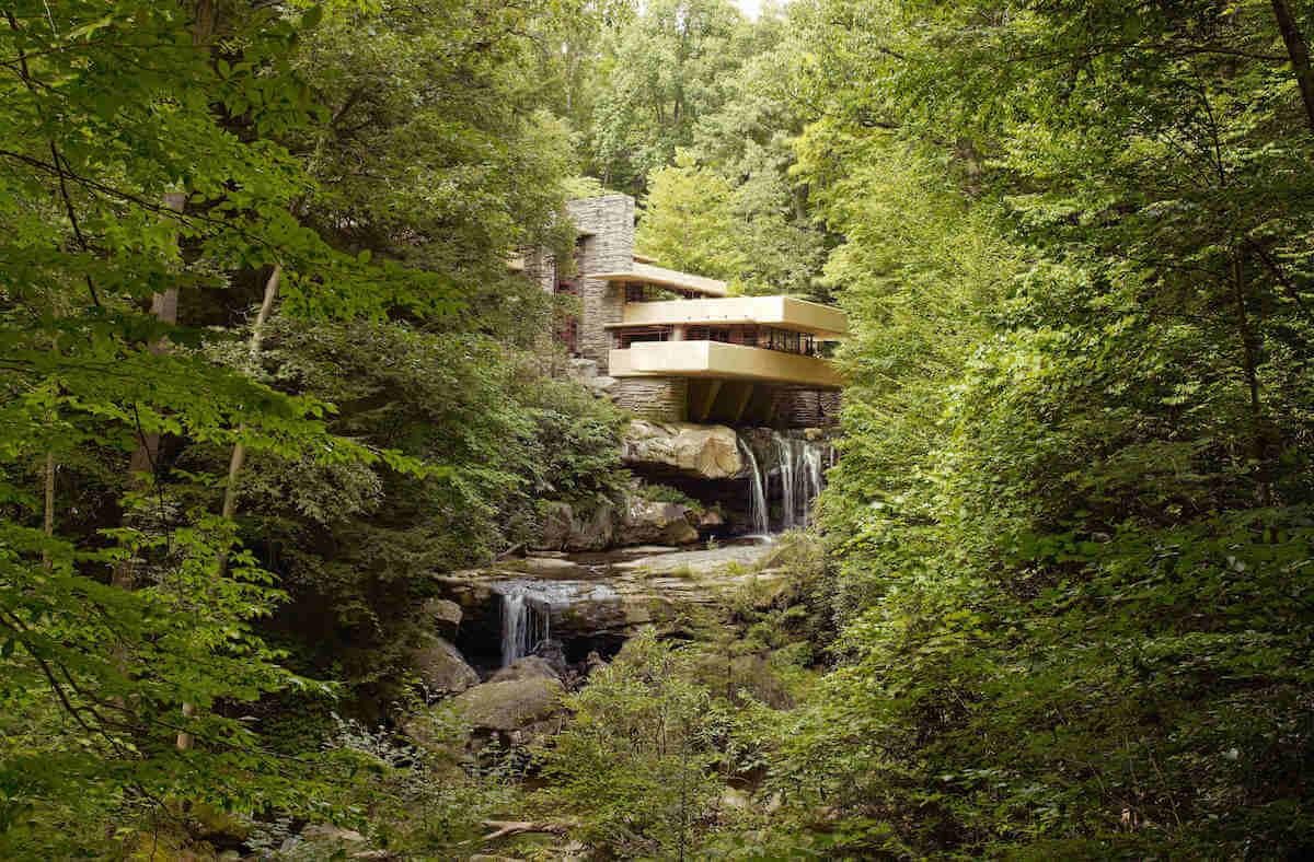 Frank Lloyd Wright's seminal Fallingwater.