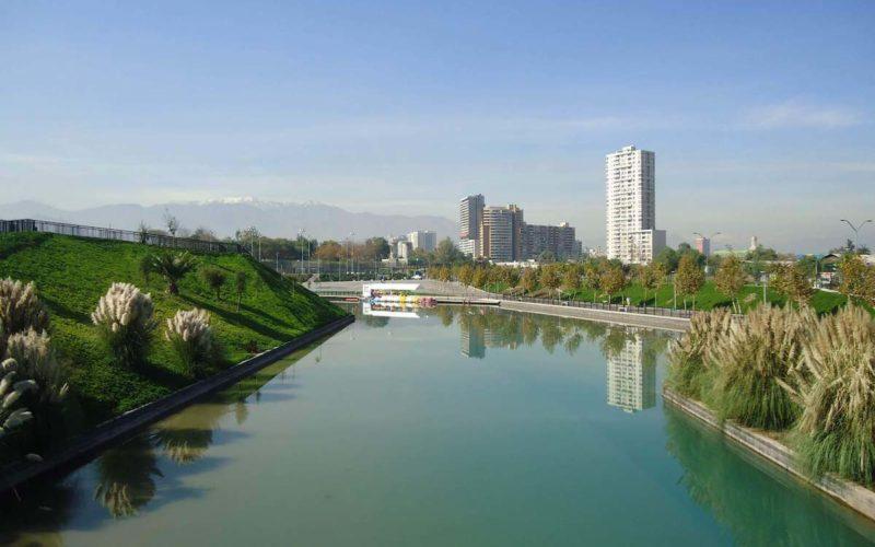 Parc fluvial Padre Renato Poblete, Santiago, Chili