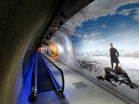 Jungfraujoch Moving Walk