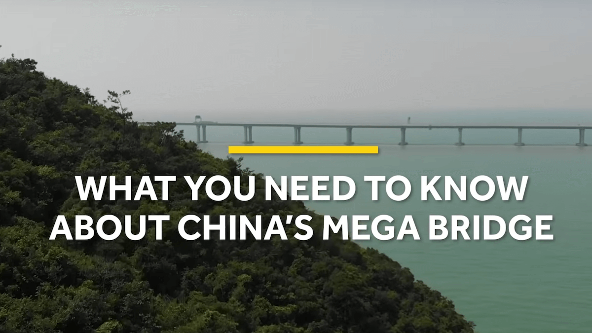 China's new mega bridge