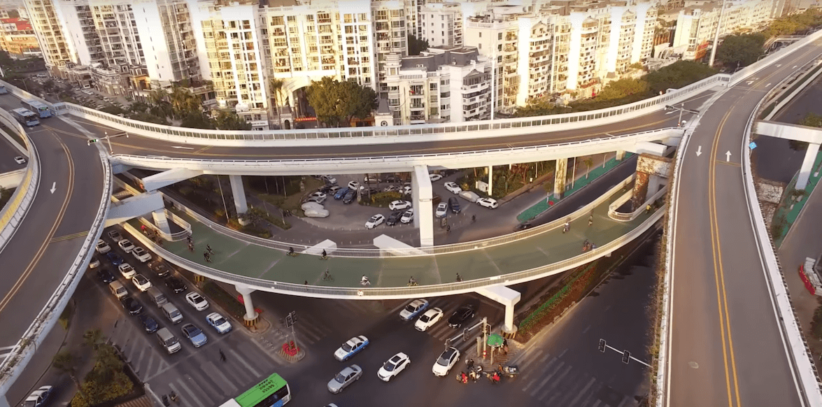 The bike skyway in Xiamen, China: the world's longest