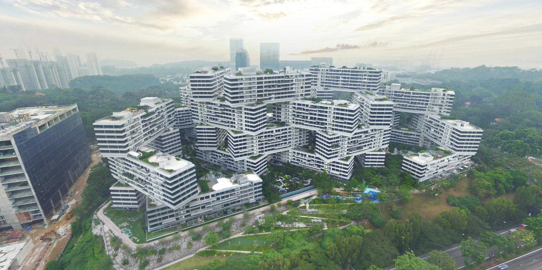 大都会建筑事务所(OMA)和奥雷·舍(Ole Scheeren)设计的新加坡翠城新景(The Interlace)