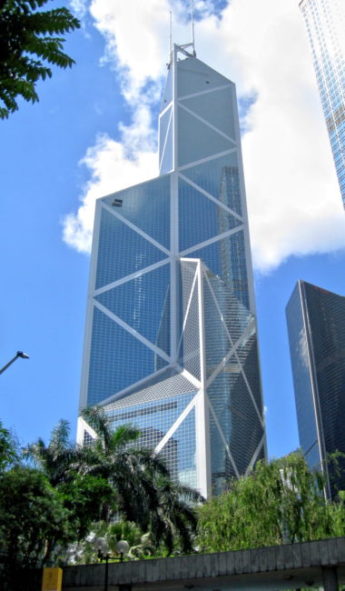 The Bank of China Tower, por Pei Cobb Freed & Partners