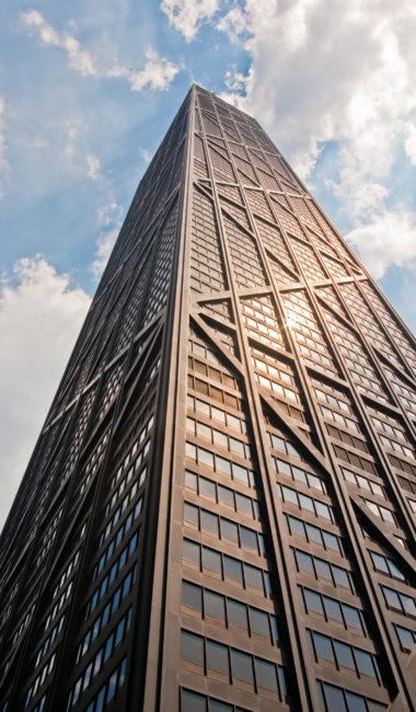 John Hancock Tower by Fazlur Khan and Bruce Graham