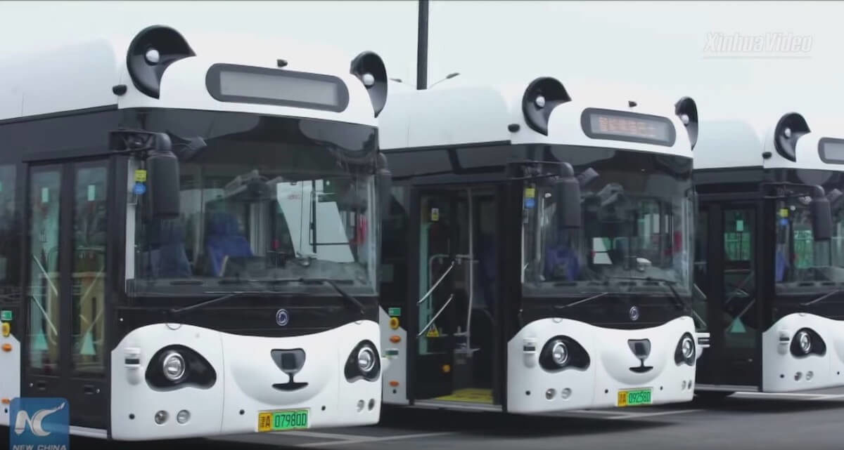 Smart self-driving buses