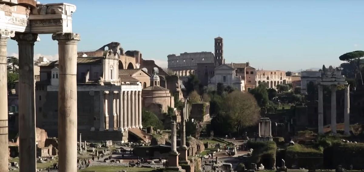 Rome Colosseum Ruins