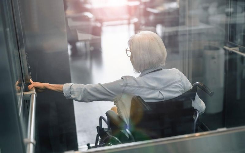 Elderly Lady Wheelchair