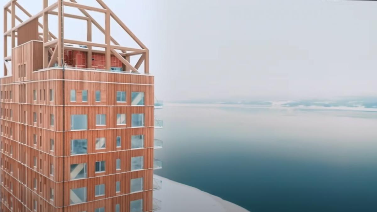 Mjøstårnet in Norway, the world's tallest wooden building