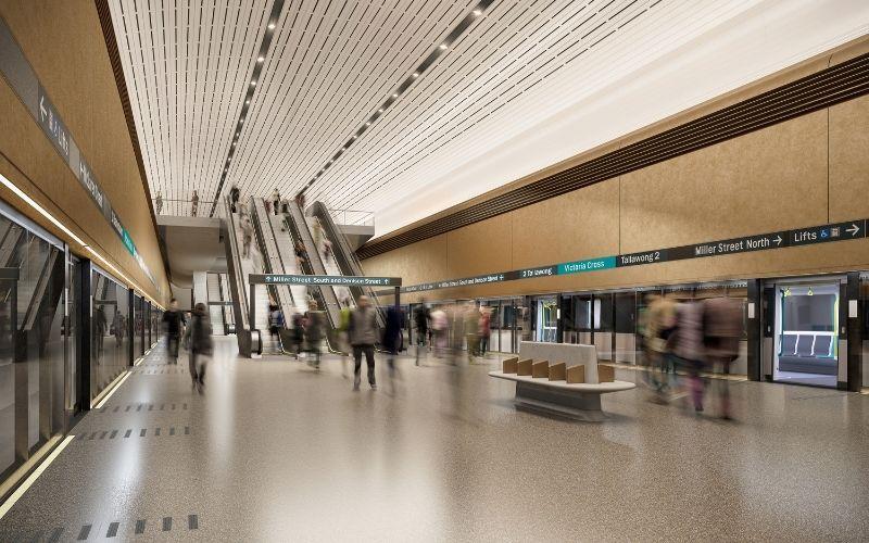 Sydney Metro Victoria Cross Platform